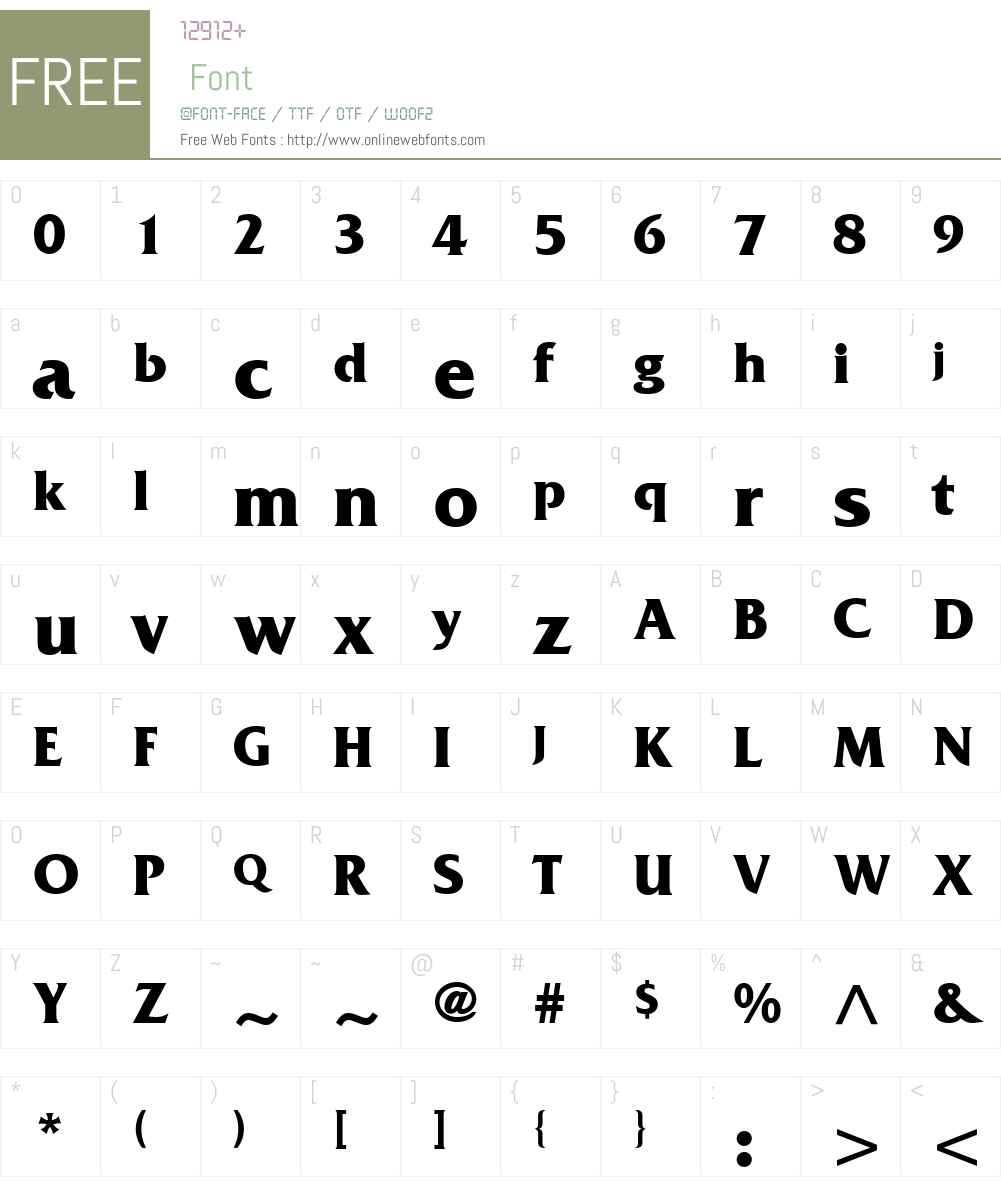 Muster SSi Font Screenshots