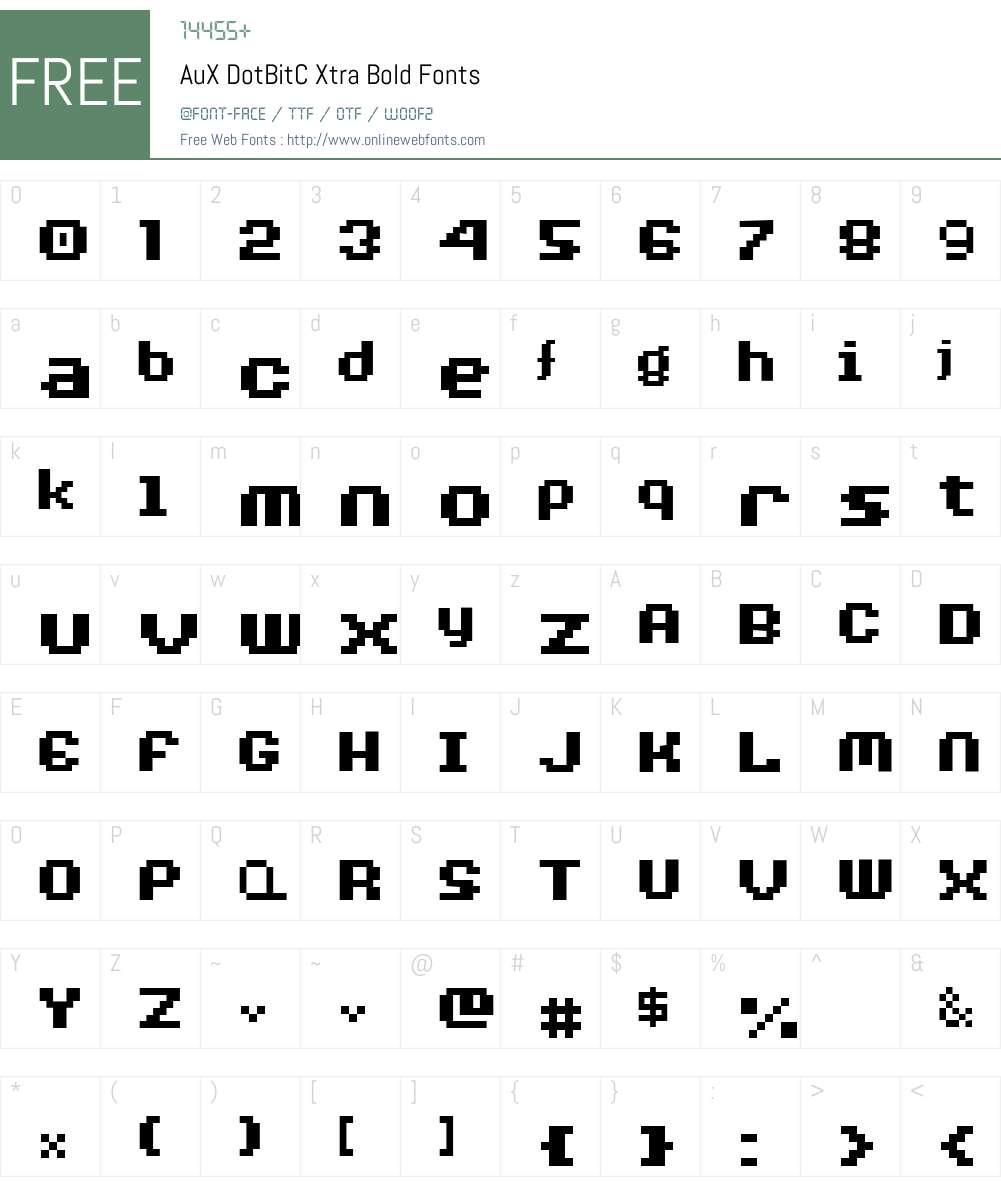 AuX DotBitC Xtra Bold Font Screenshots