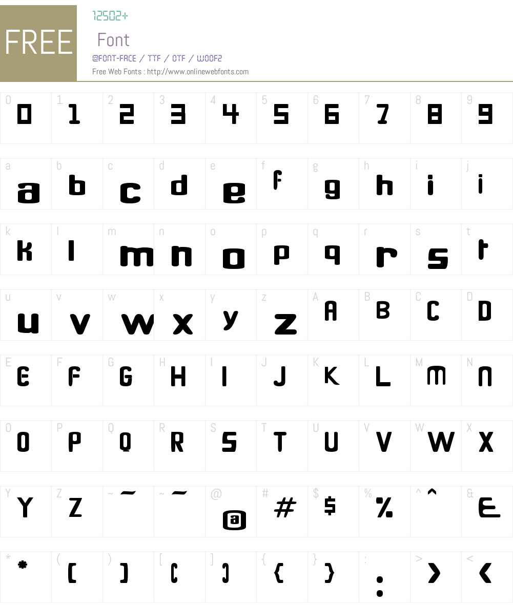 Quanta Font Screenshots