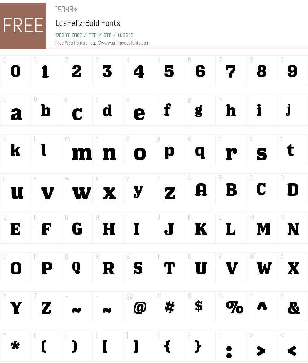 LosFeliz-Bold Font Screenshots
