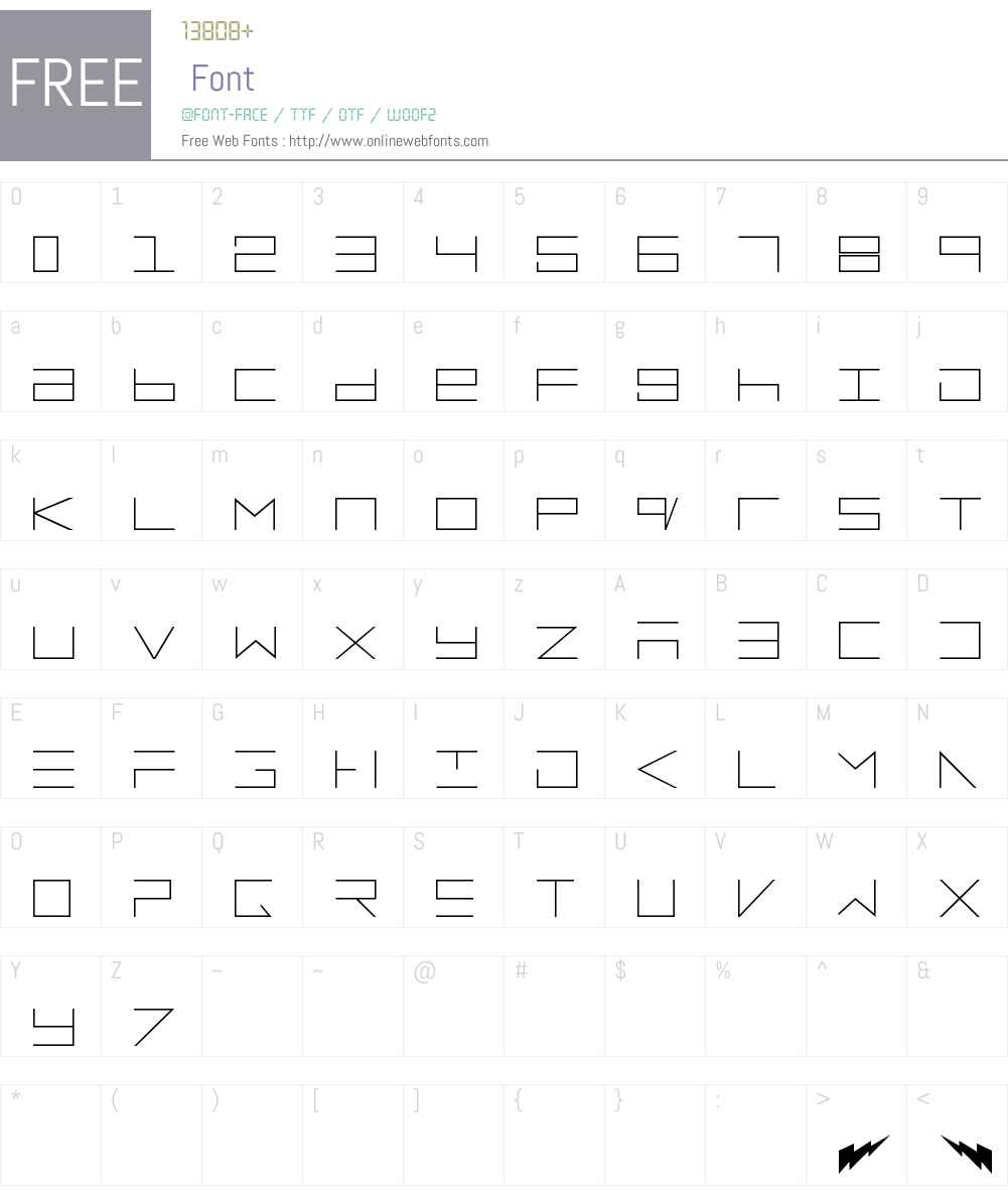 electroMan Font Screenshots