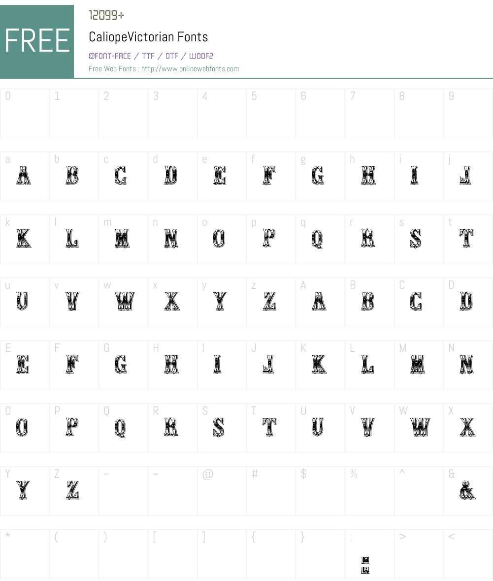 Caliope Font Screenshots