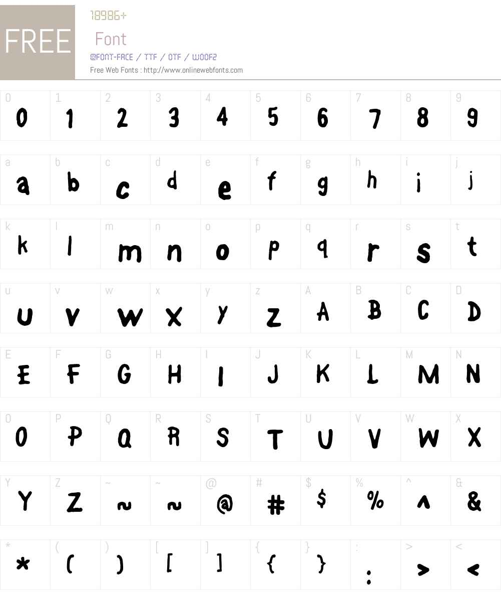 FontOnAStick Font Screenshots