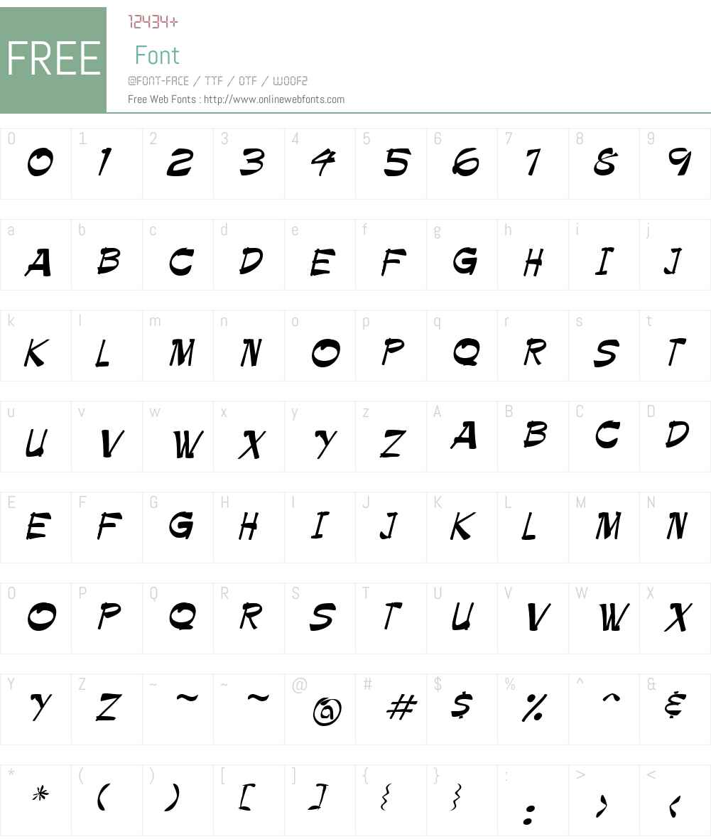Paintbrush Font Screenshots
