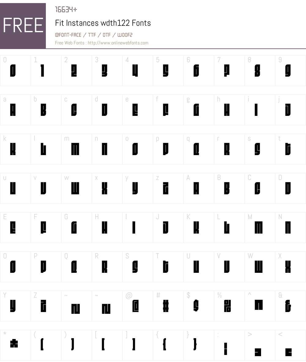 Fit Instances wdth122 Font Screenshots