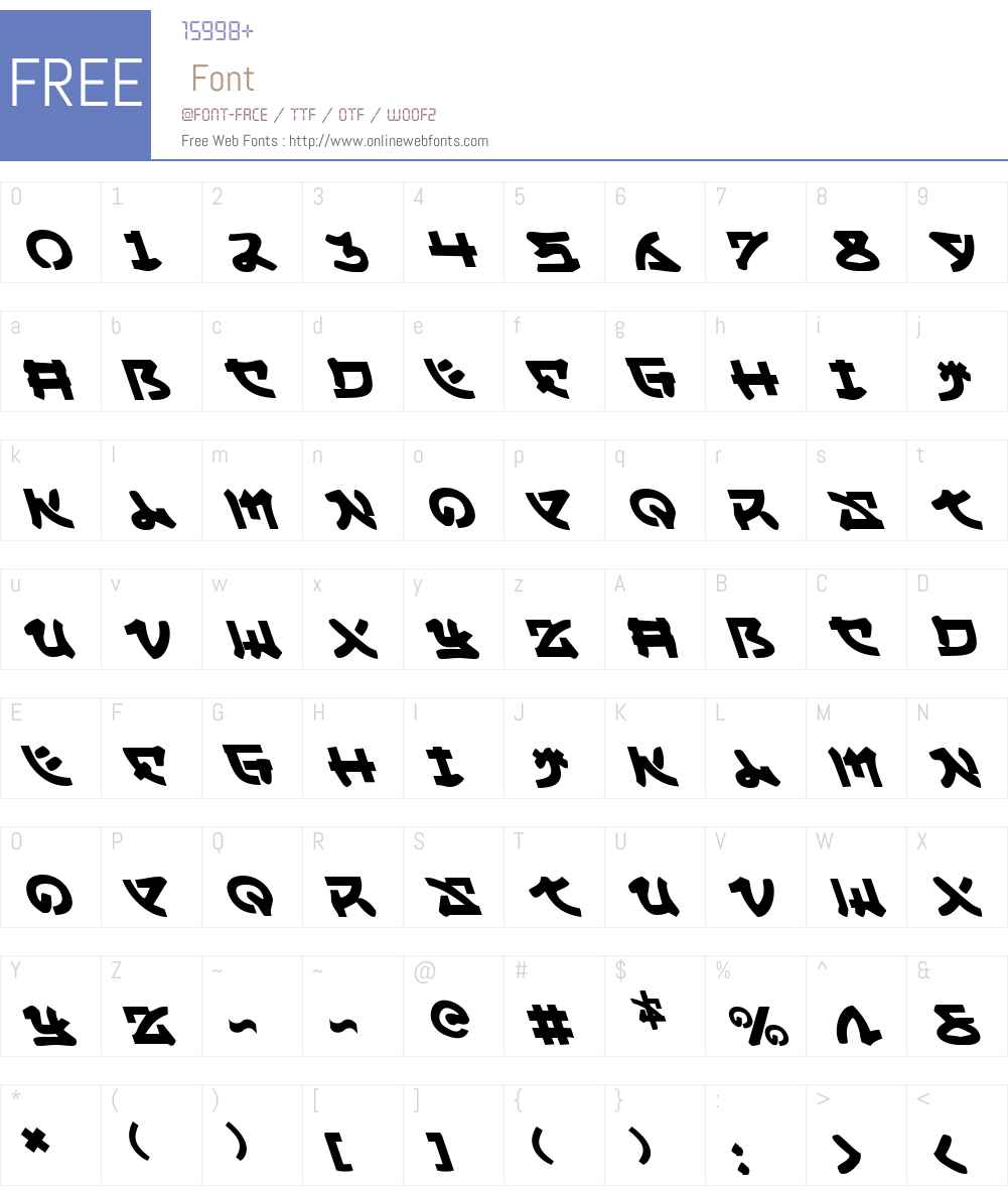 Yama Moto Leftalic Font Screenshots