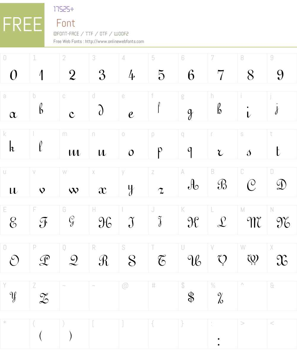 Gessele Font Screenshots