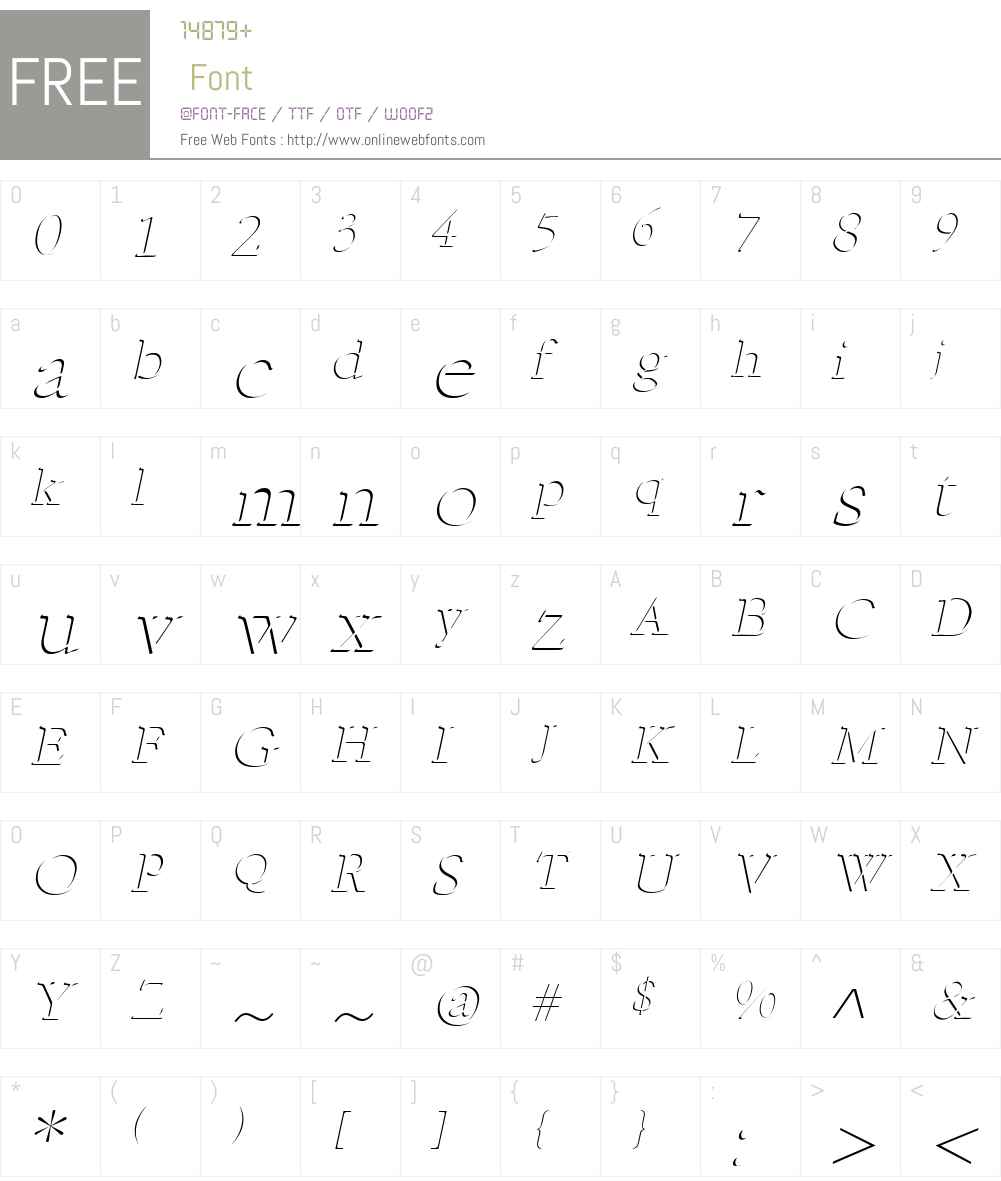 Indent Font Screenshots