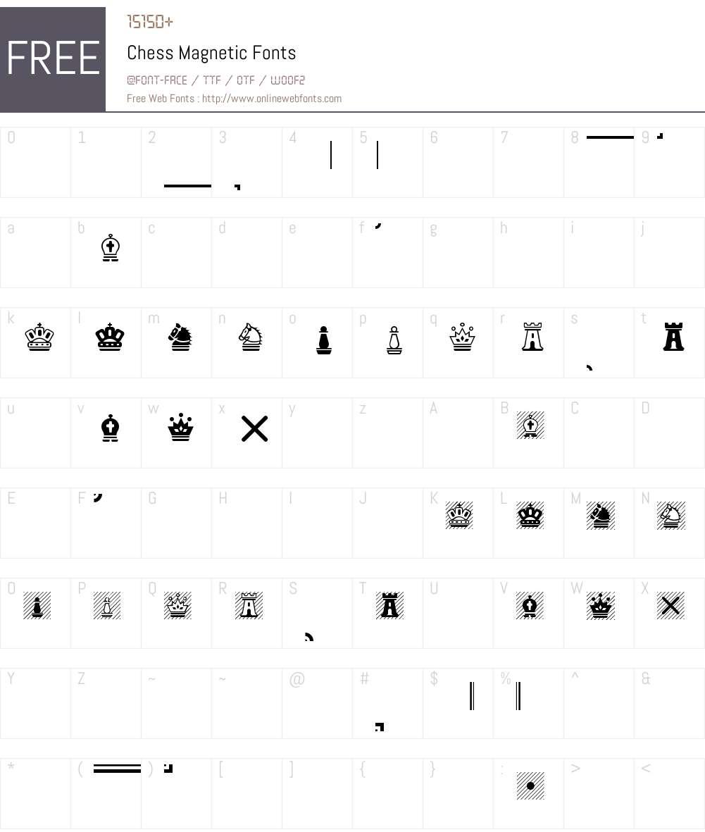 Chess Magnetic Font Screenshots