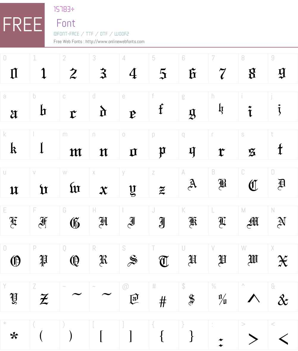 Tannenbaum Font Screenshots