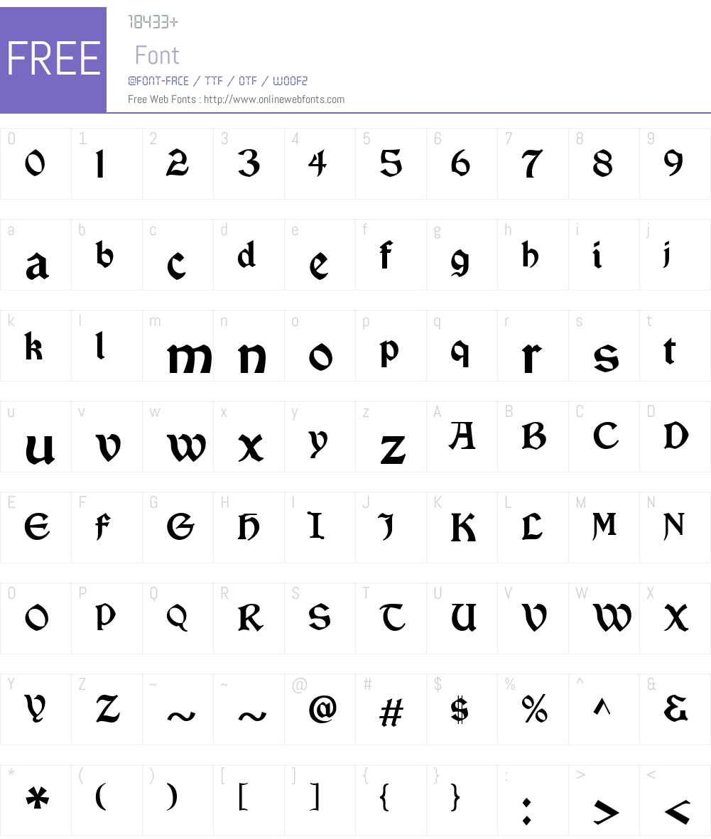 VinqueW00-Regular Font Screenshots