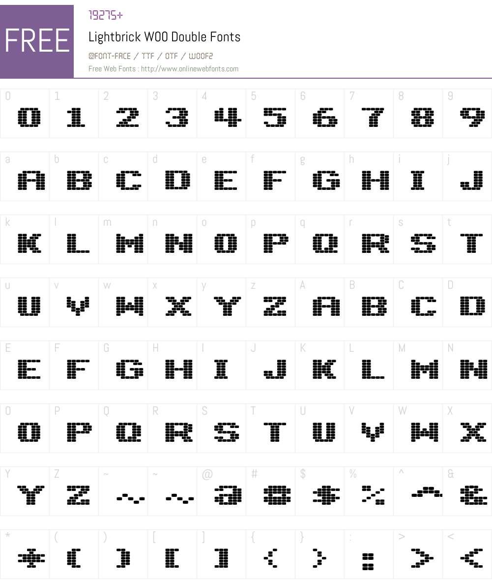 LightbrickW00-Double Font Screenshots