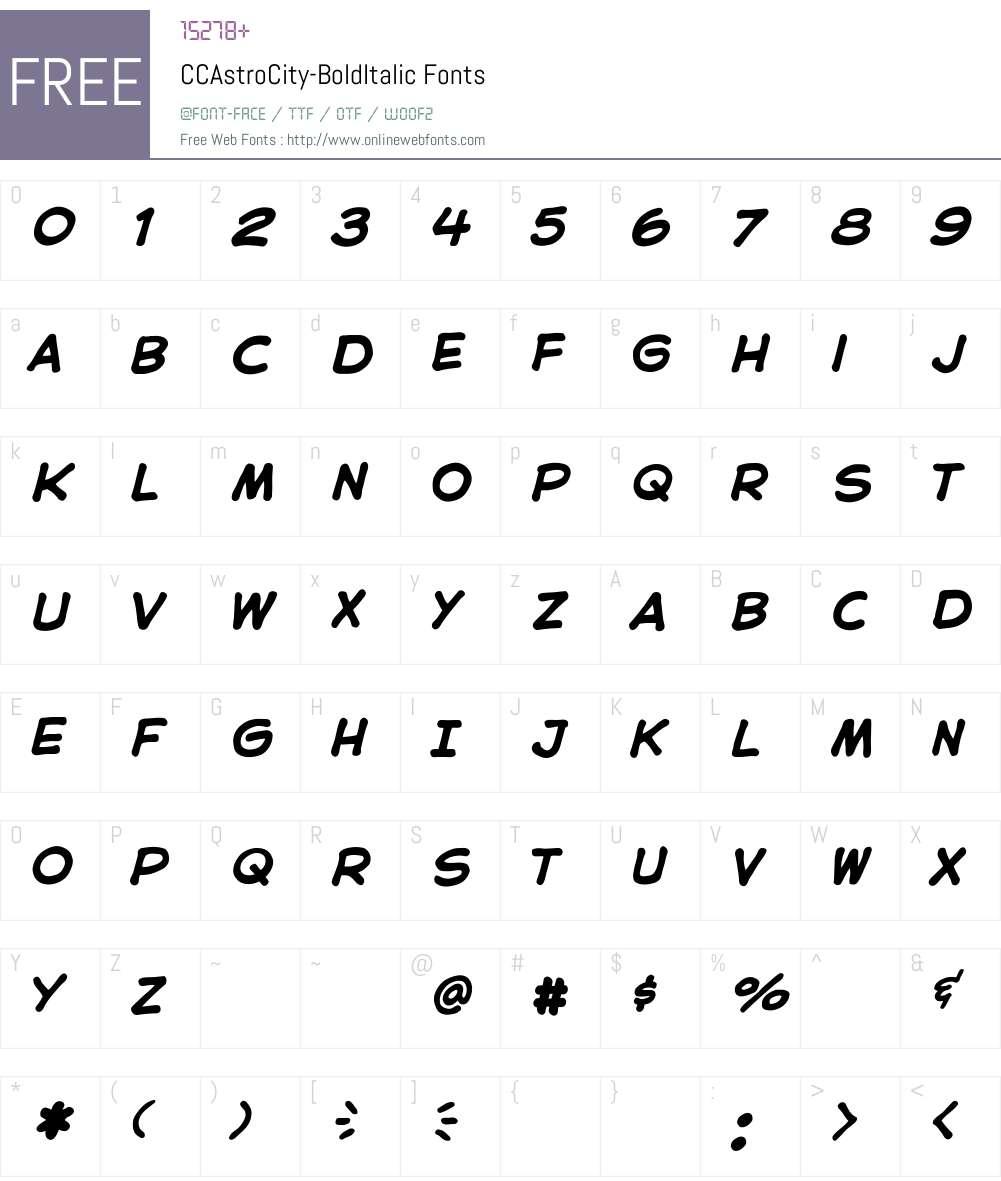 CCAstroCity Font Screenshots