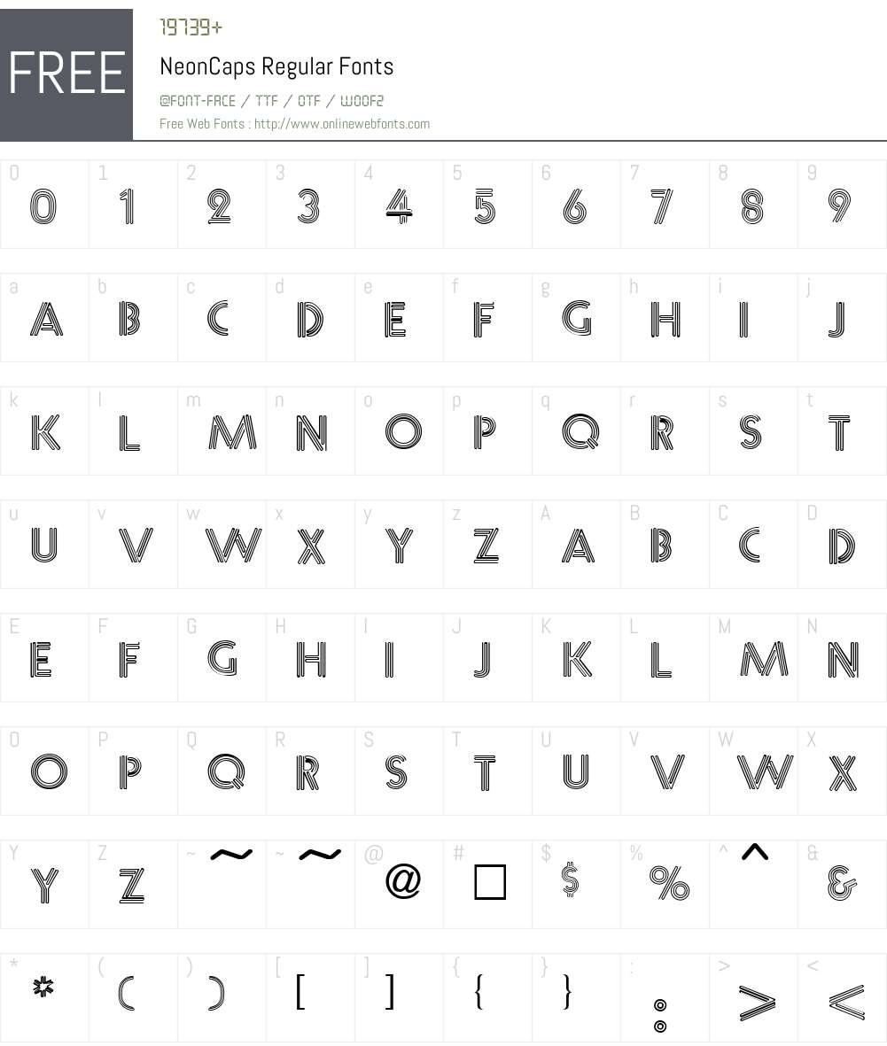 NeonCaps Font Screenshots