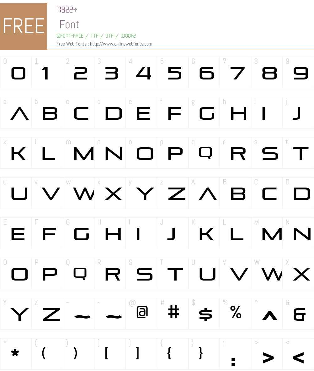 Pirulen Font Screenshots