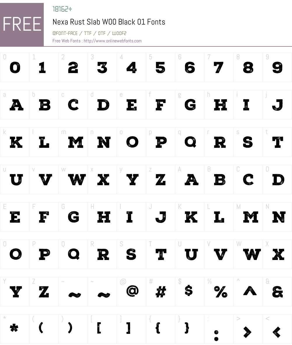 NexaRustSlabW00-Black01 Font Screenshots