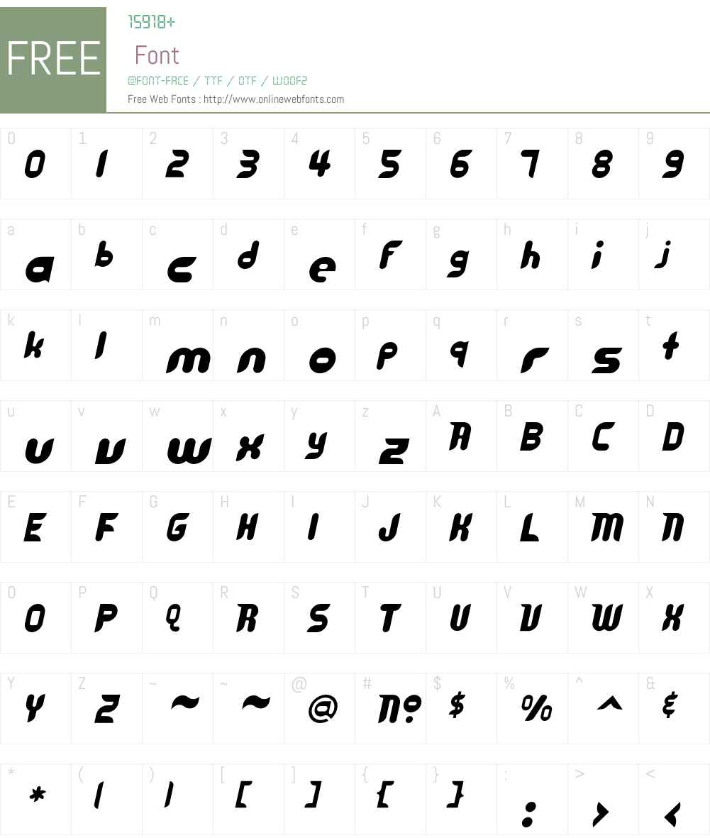 Cyberotica Font Screenshots