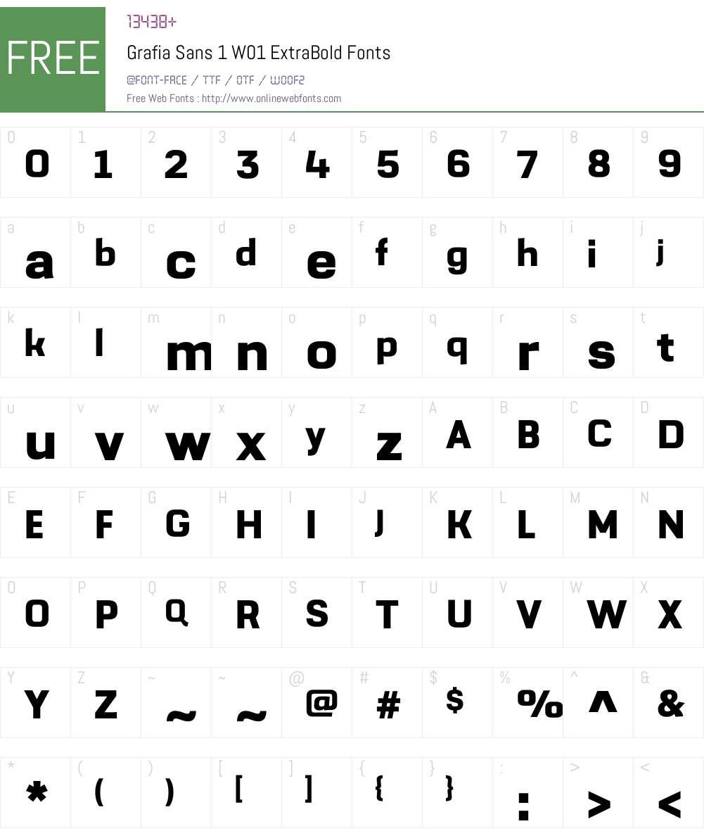 GrafiaSans1W01-ExtraBold Font Screenshots