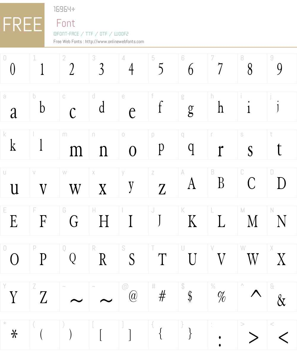 Elephant Thin Font Screenshots