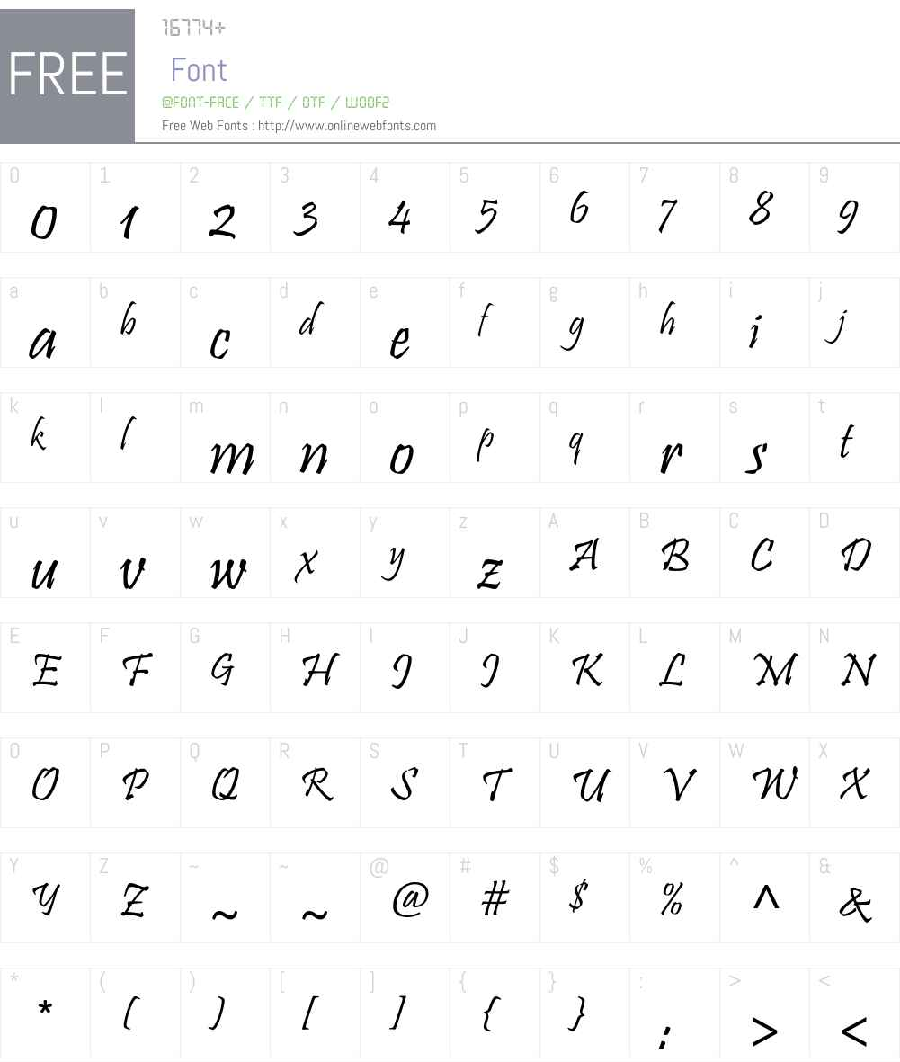 Pristina Std Font Screenshots