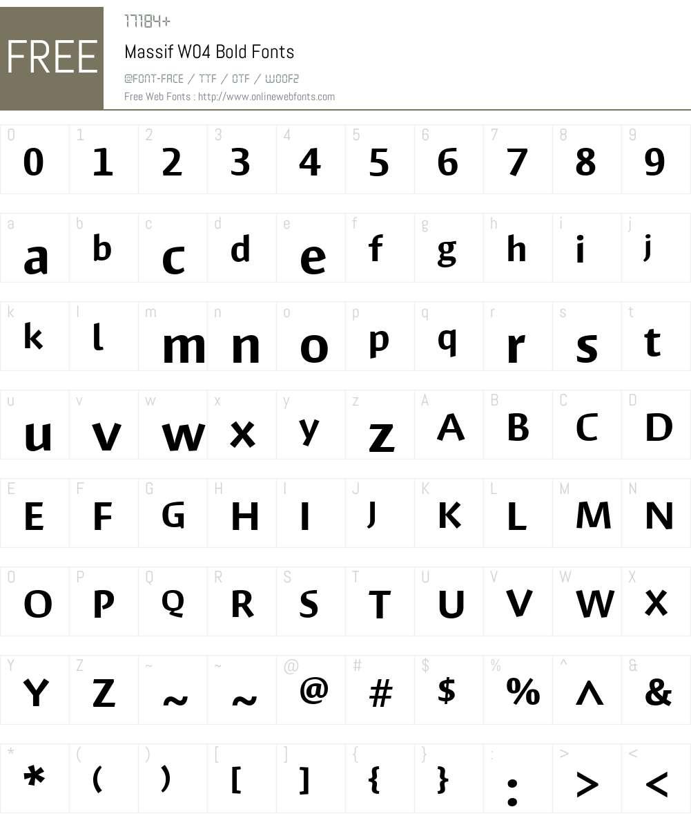 Massif Font Screenshots