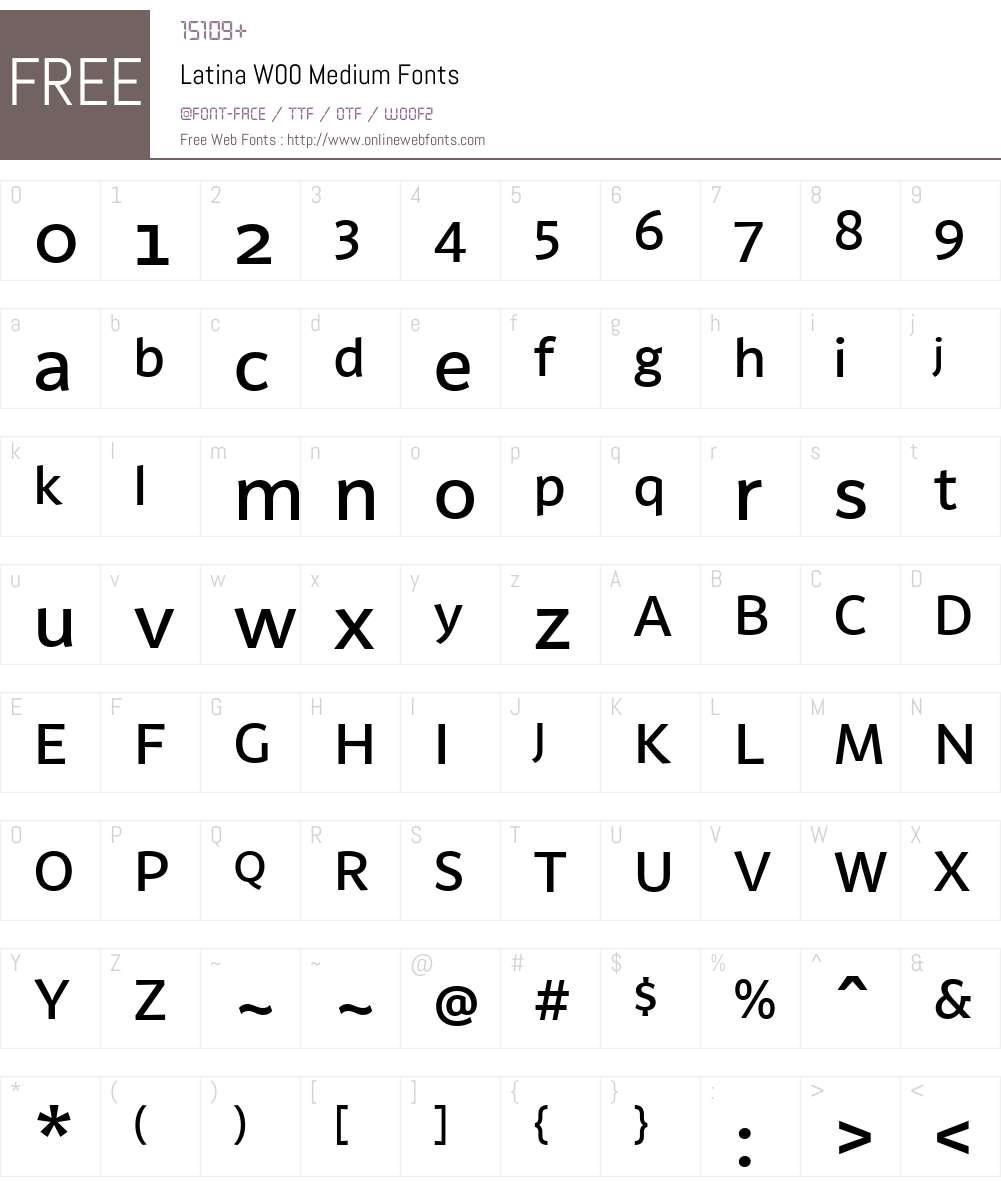 Latina Font Screenshots