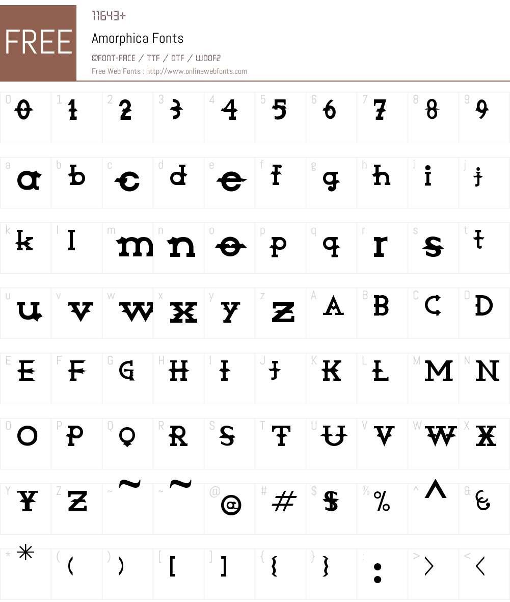 Amorphica Font Screenshots