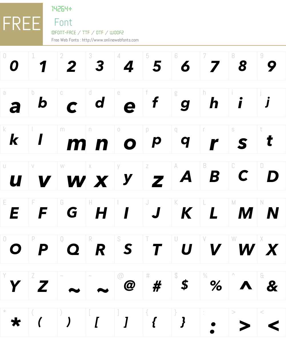 AvenirNextCyrW00-BoldItalic Font Screenshots