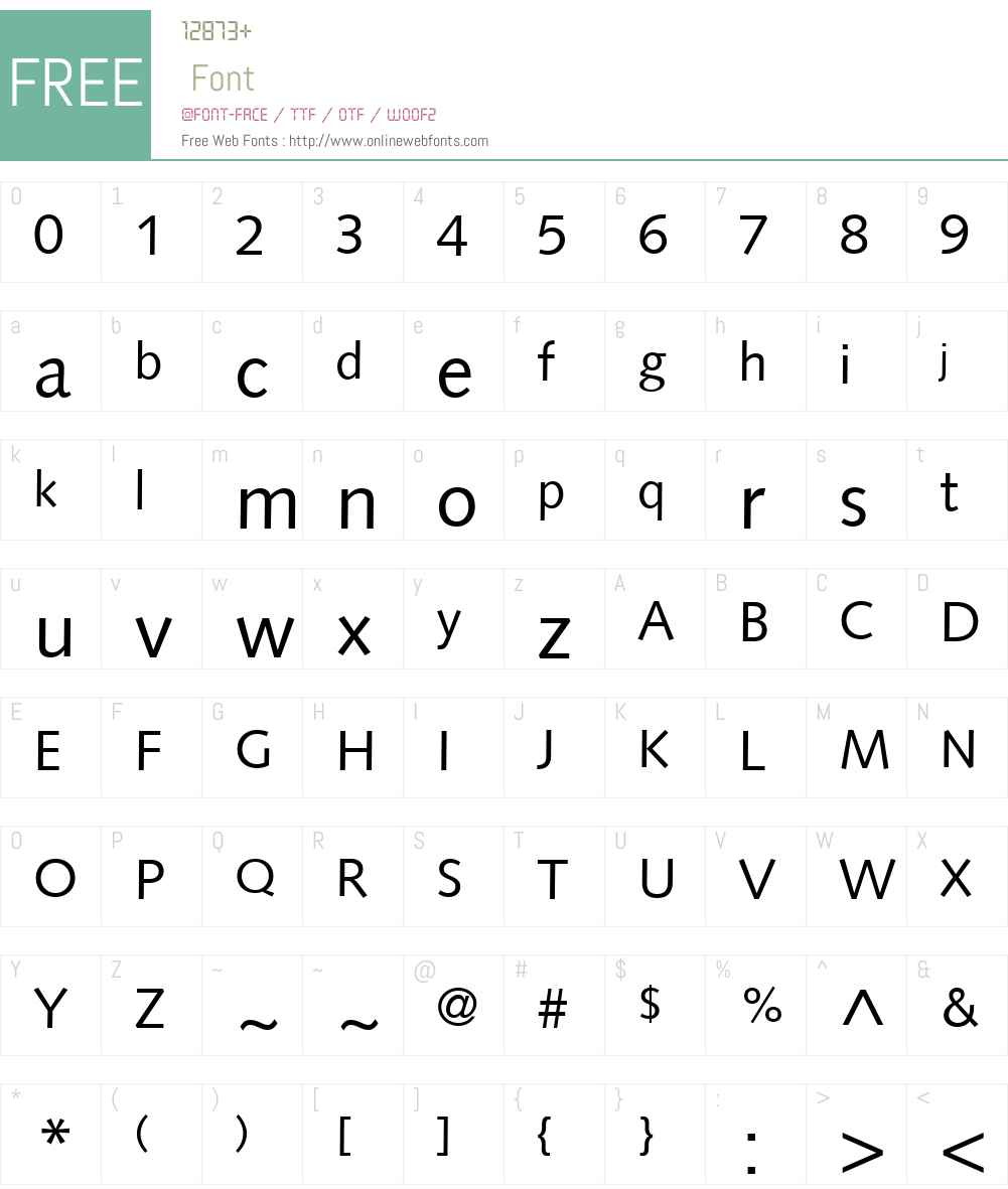 Badiya LT Font Screenshots