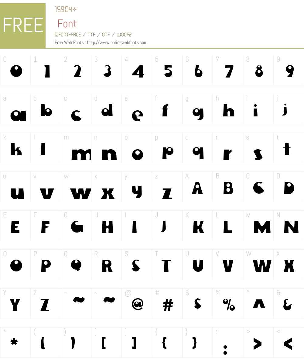 EwieW01-D Font Screenshots