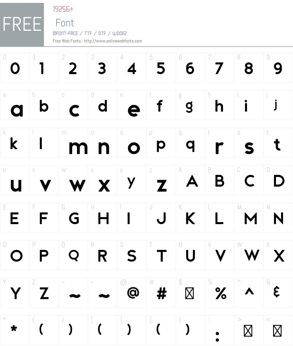 Andea Rounded Font Screenshots