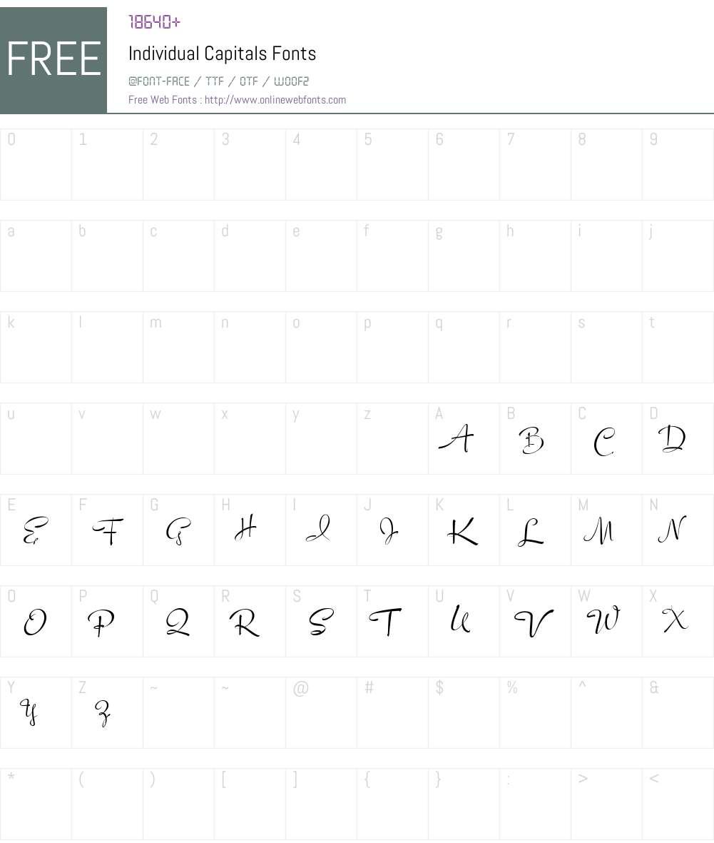 Individual Capitals Font Screenshots