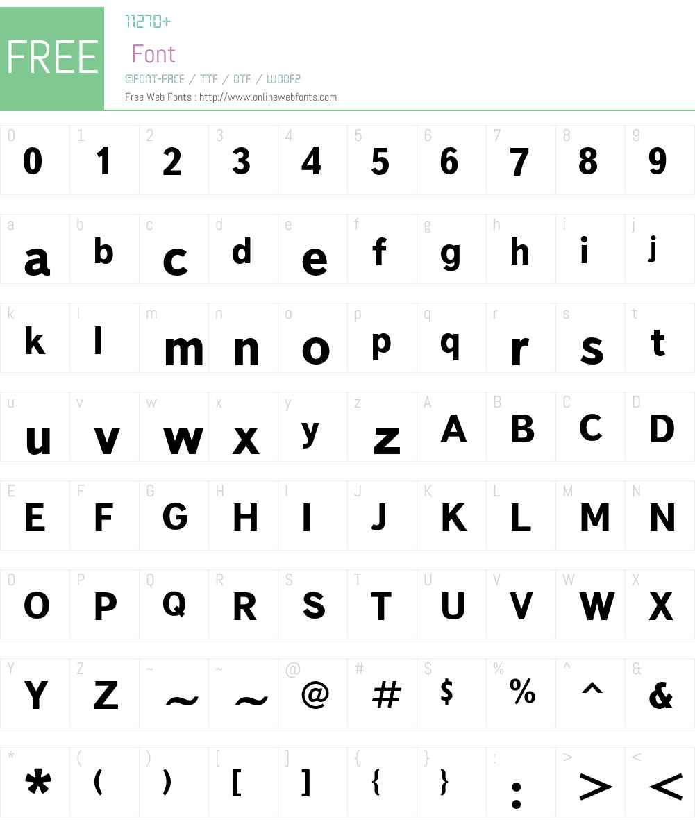 TextBookC Font Screenshots