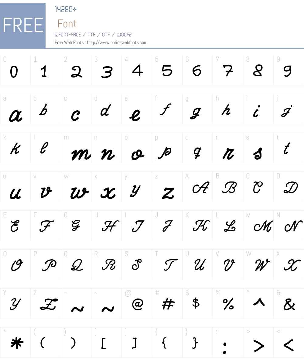 Write Righ Script Font Screenshots