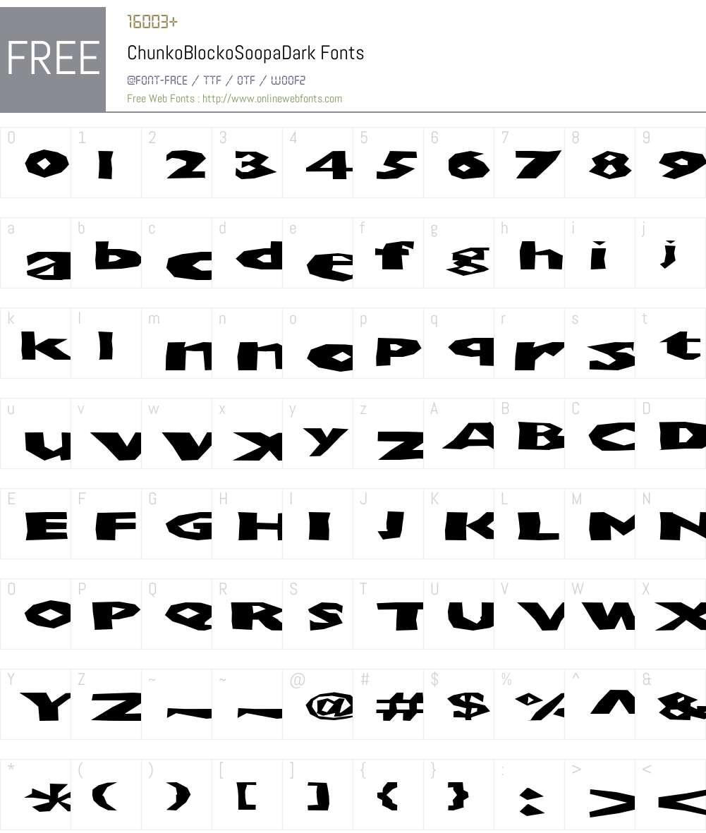 ChunkoBlockoSoopaDark Font Screenshots