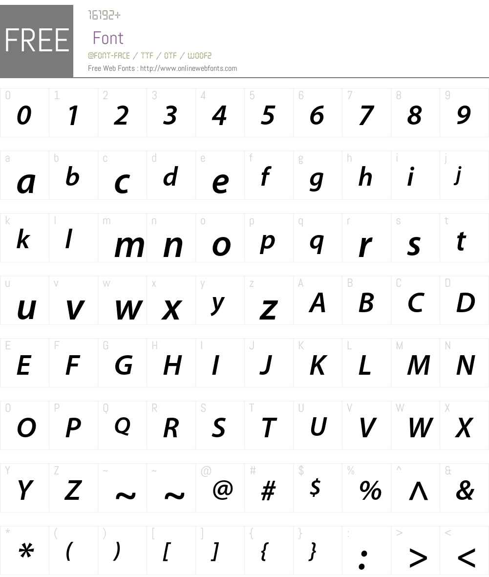 Adobe Corporate ID Font Screenshots