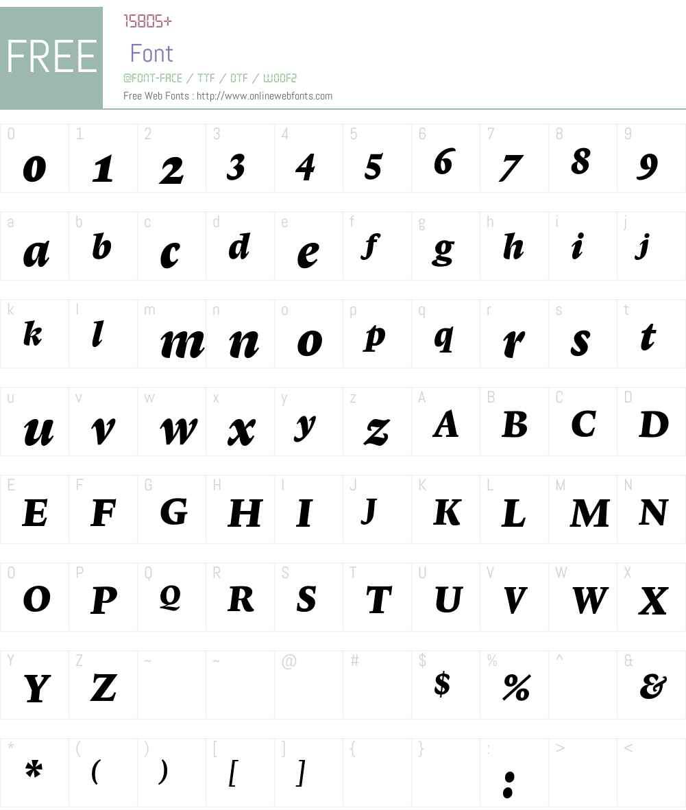 LexiconNo1ItalicF Font Screenshots