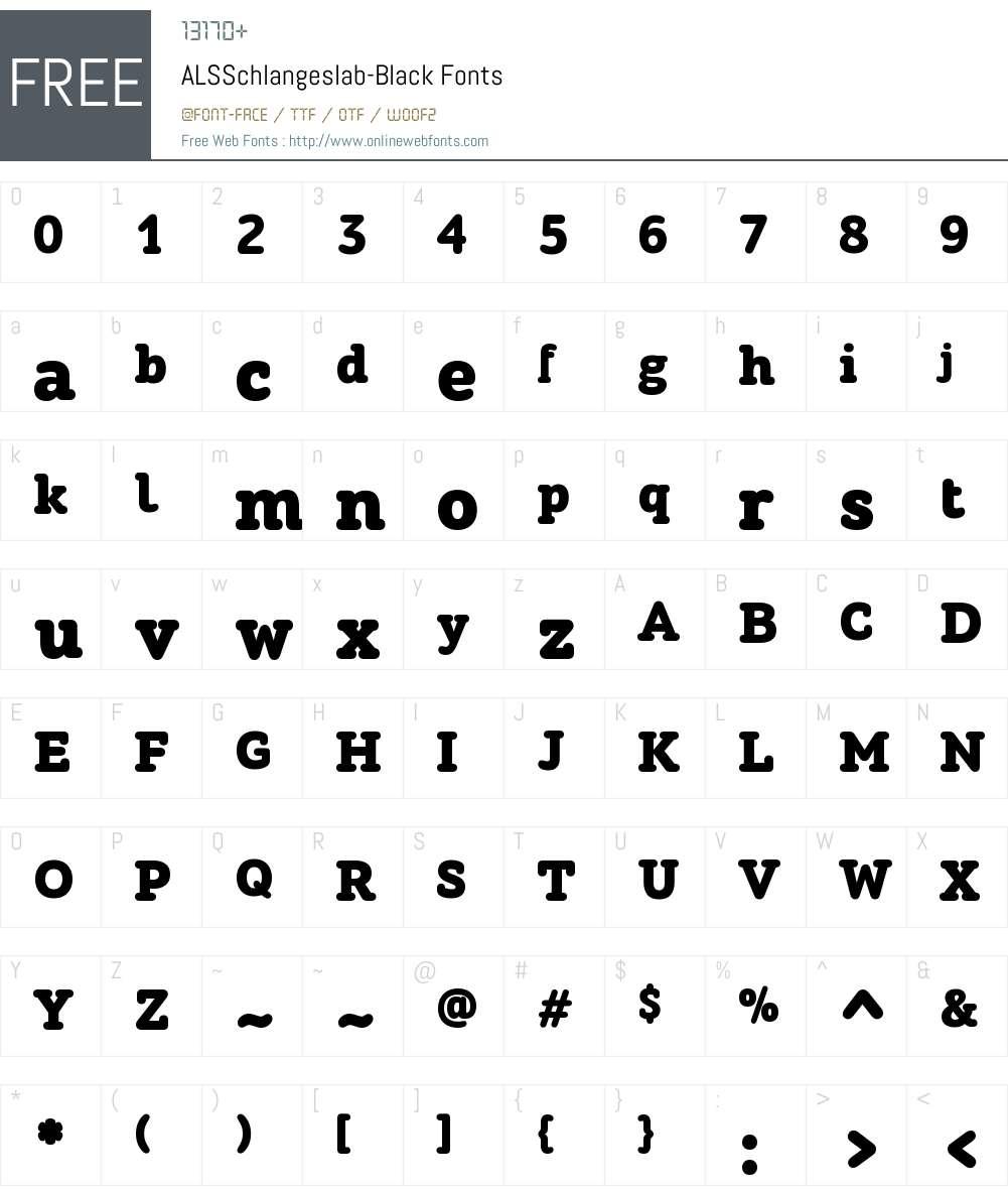 ALSSchlangeslab-Black Font Screenshots