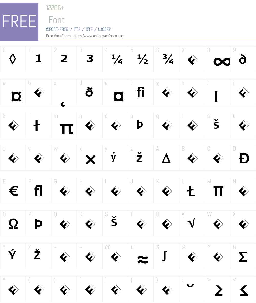 SignaNormal-BoldExpert Font Screenshots