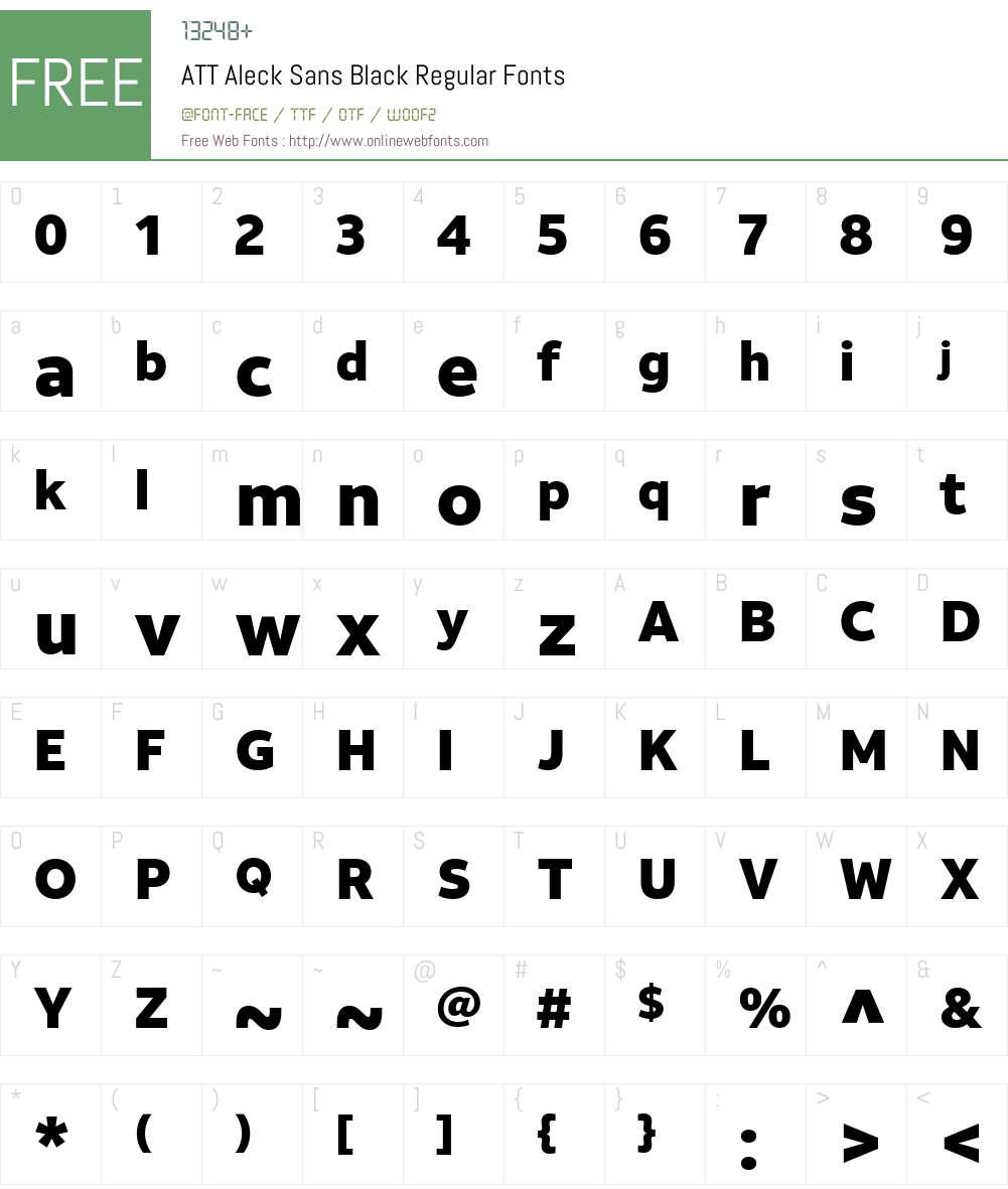 ATT Aleck Sans Black Font Screenshots