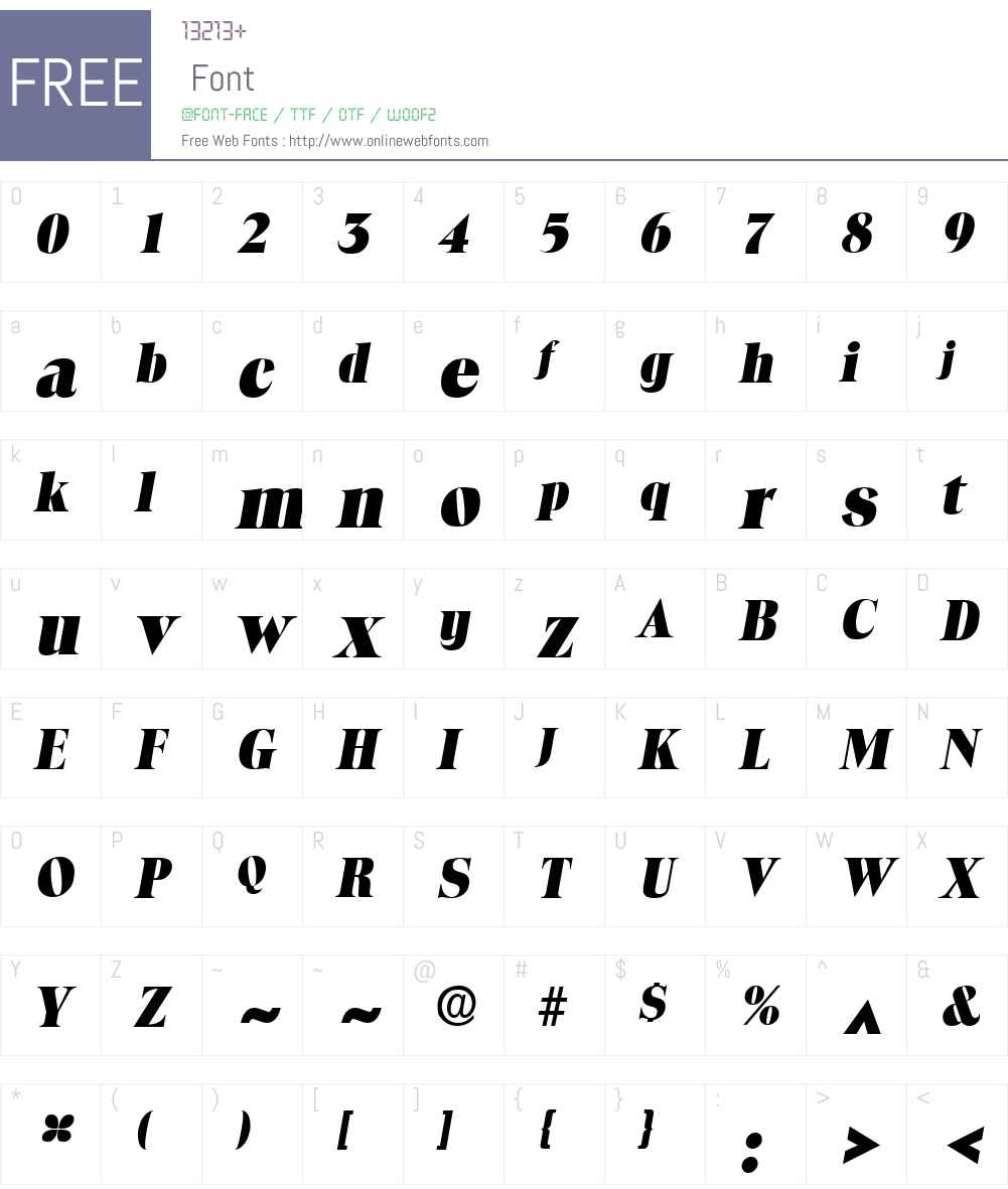 ToledoLH Font Screenshots