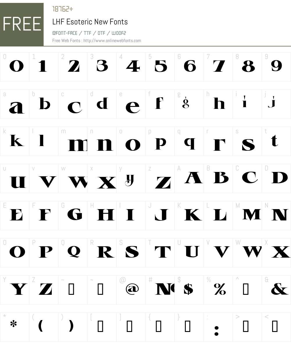 LHF Esoteric New Font Screenshots