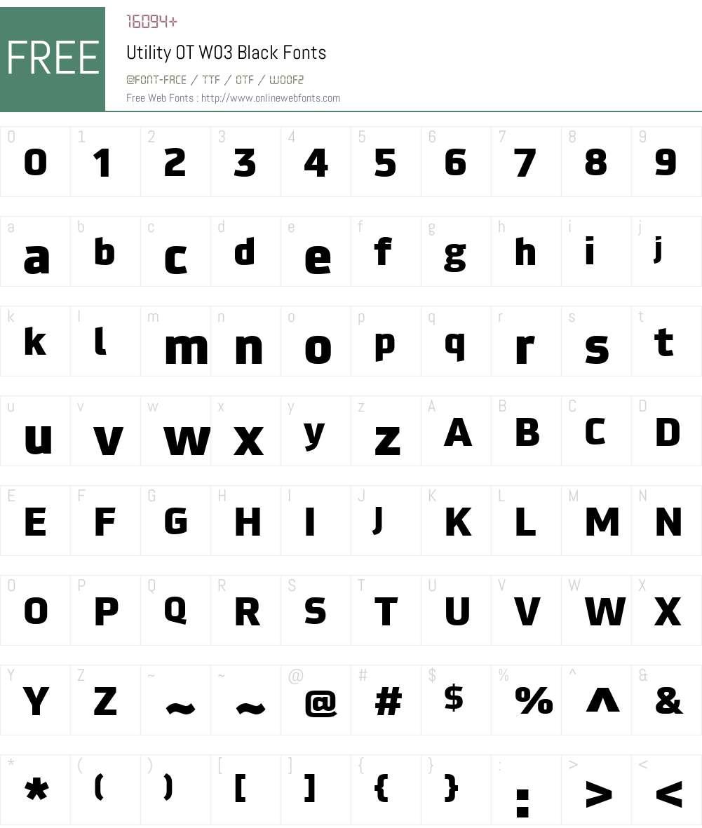 FF Utility Font Screenshots