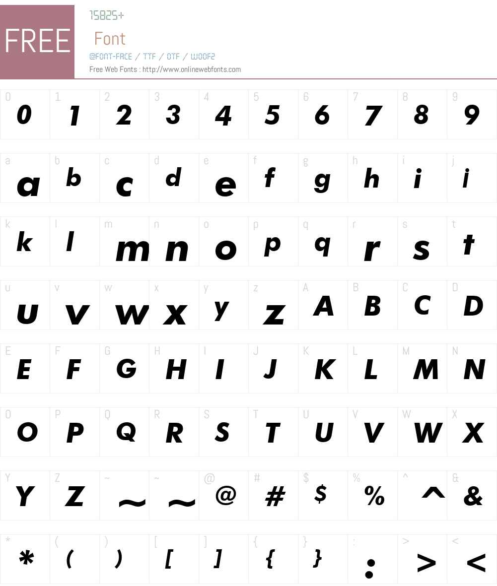FuturaBTW02-HeavyItalic Font Screenshots
