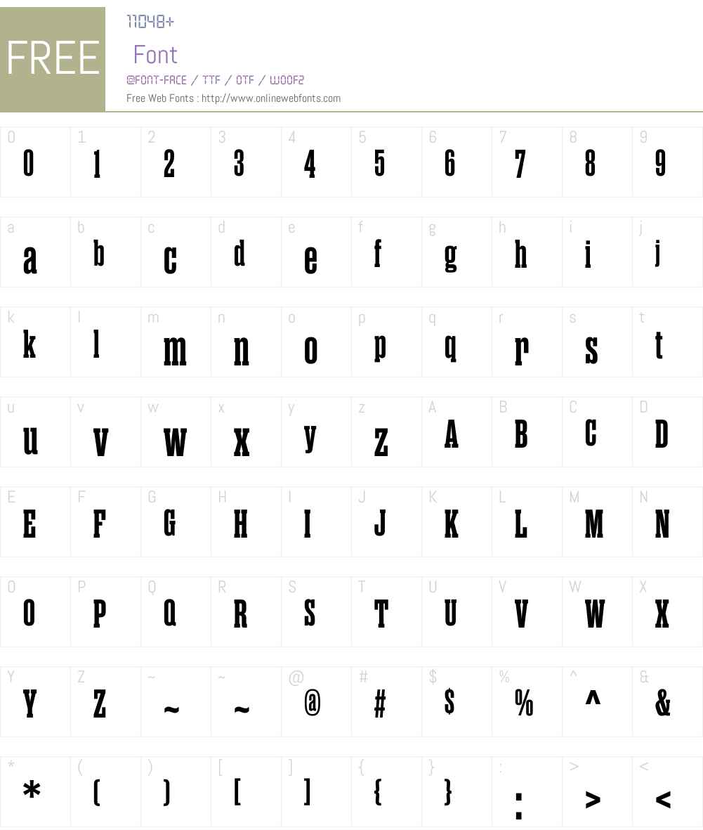 RamaSlabMW01-Bold Font Screenshots