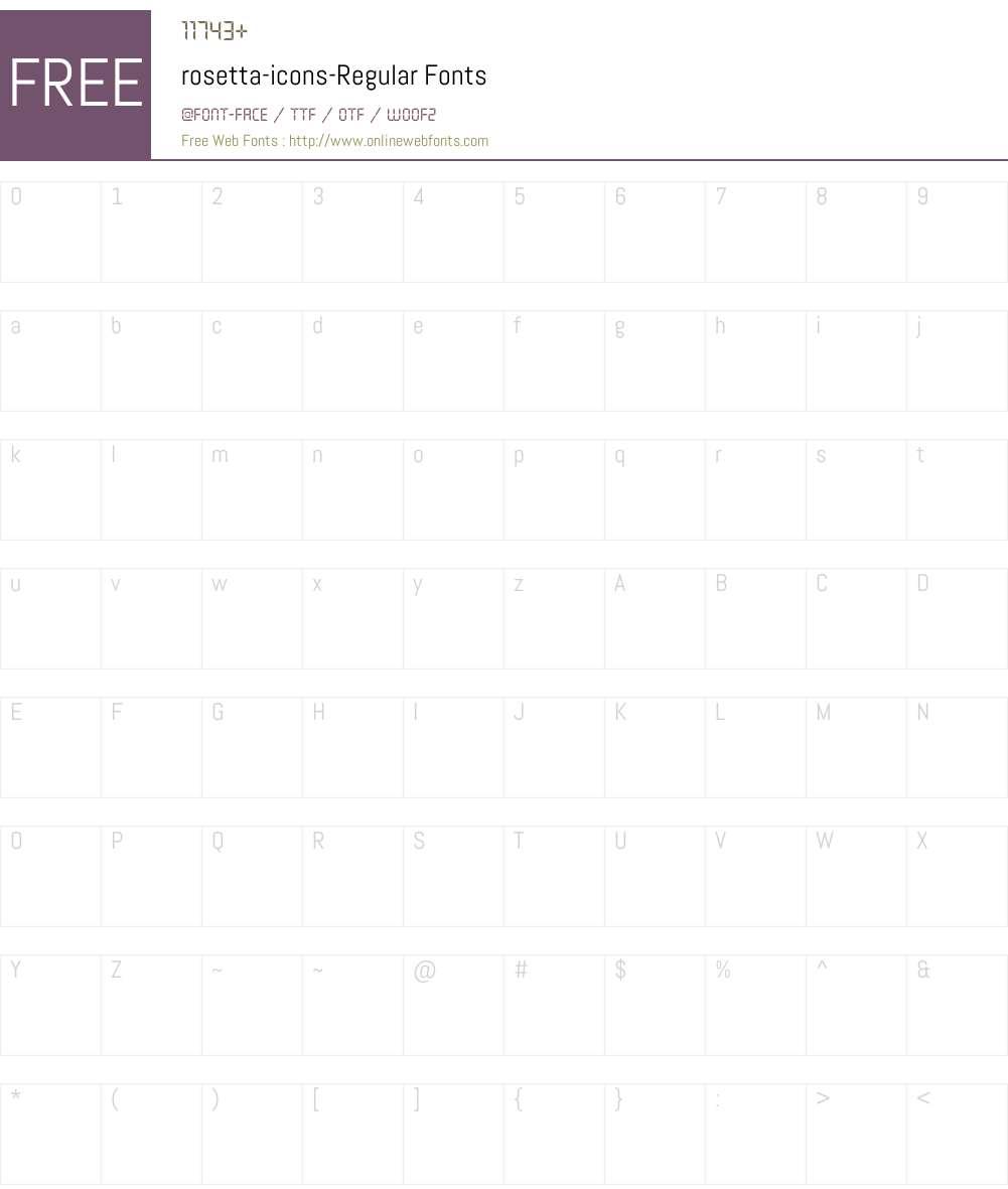 rosetta-icons-Regular Font Screenshots