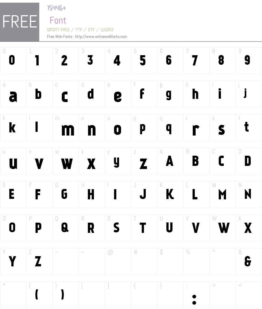 Kankin Font Screenshots