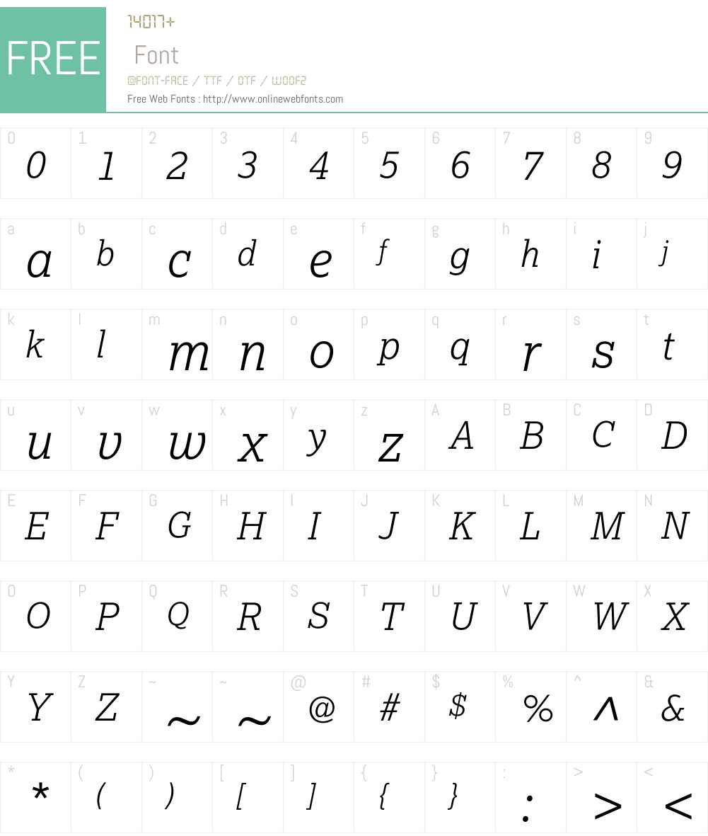 Lexia-LightItalic Font Screenshots