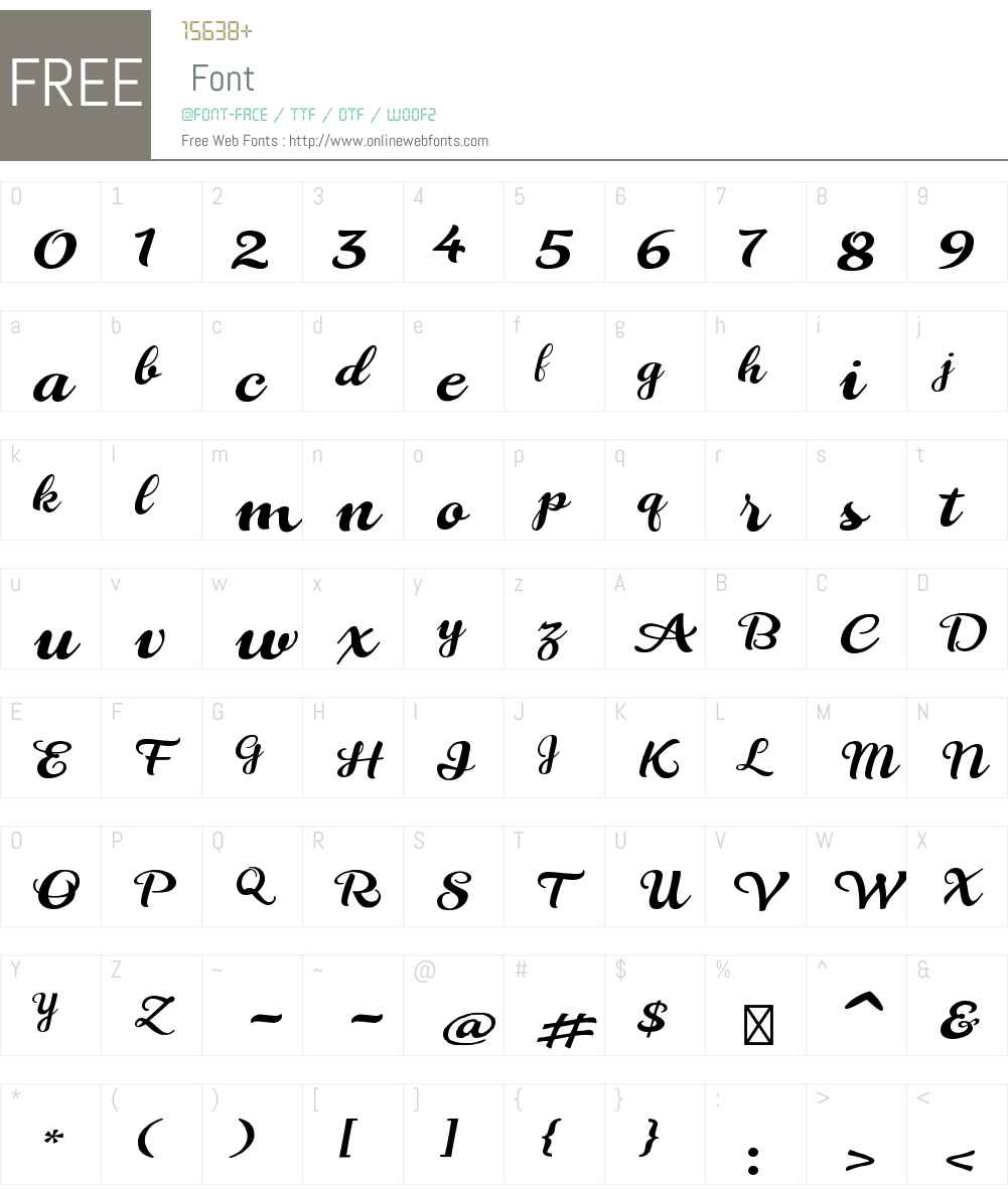 LaviniaW00-Regular Font Screenshots