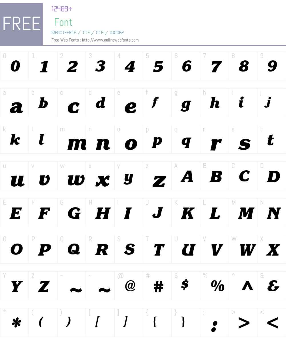 Korinna BQ Font Screenshots